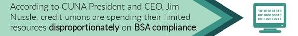 Credit union BSA Compliance