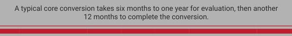 Credit Union Core Conversion Timeline