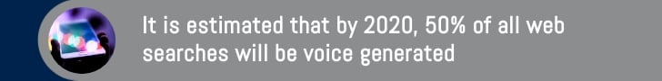 voice generated web searches in 2020