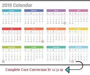 core conversion calendar